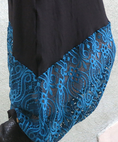 Black on Blue | Lace Pants