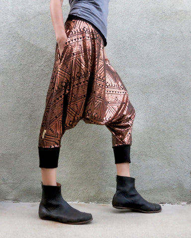 Gold + Tribal | Dropcrotch Shorts