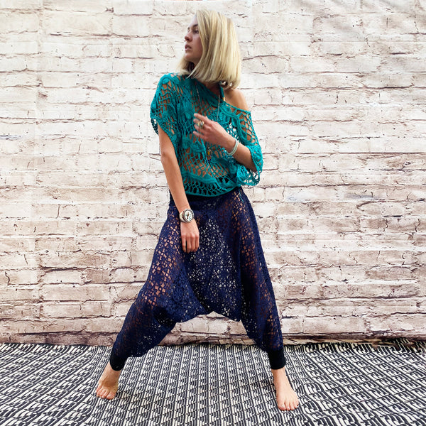 Flower Of Life | Lace Pants