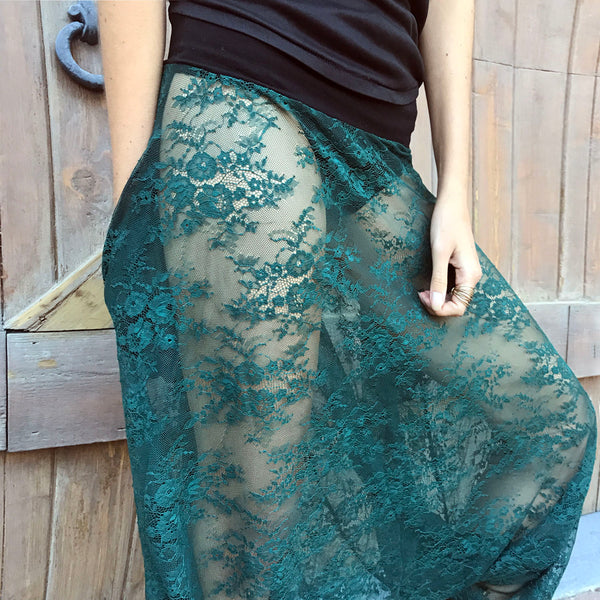 Dioptase Dance | Lace Harem Pants