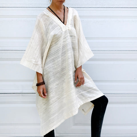Serene | Raw Silk Short Tunic
