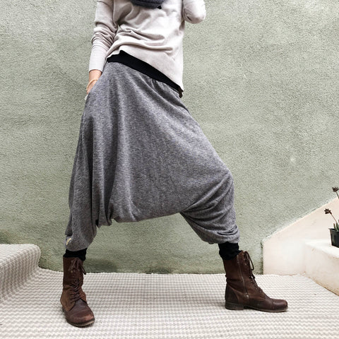 Softest Gray | Her Harem Pants