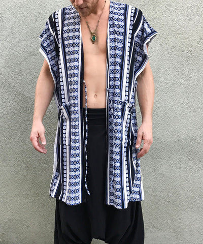 Blue+Black Aztec | Open Shirt