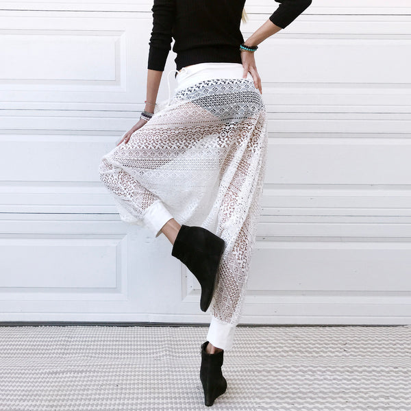 Frost | Lace Harem Pants