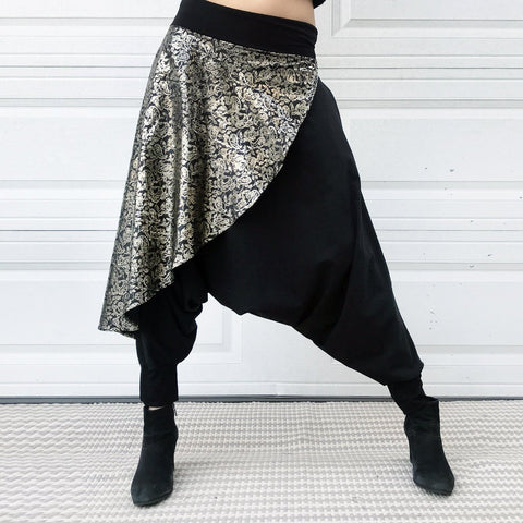 Golden Shimmer | Unisex Harem Pants