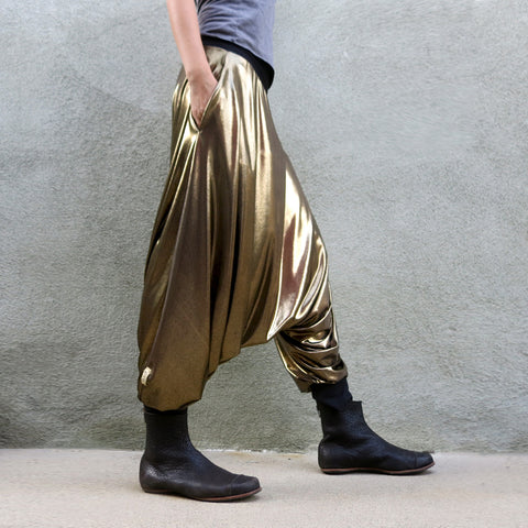 Liquid Gold Harem Pant