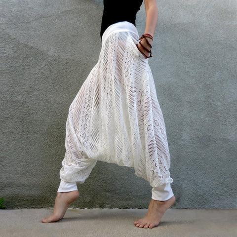 White Lilac Dream Lace Pants