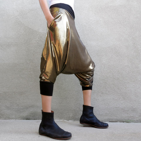 Liquid Gold Drop Crotch Pants