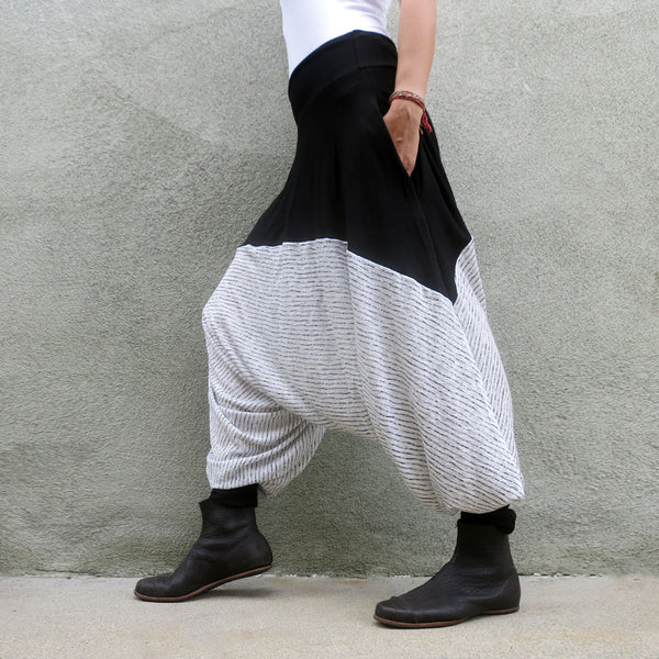 Glorka Urban Casual Harem Pants Drop-Crotch Slacks Trousers