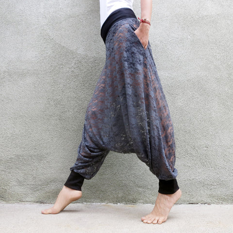 Smoky Crystal | Lace Harem Pants