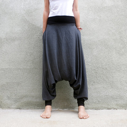 Darker Grey Basics | Unisex Harem Pants