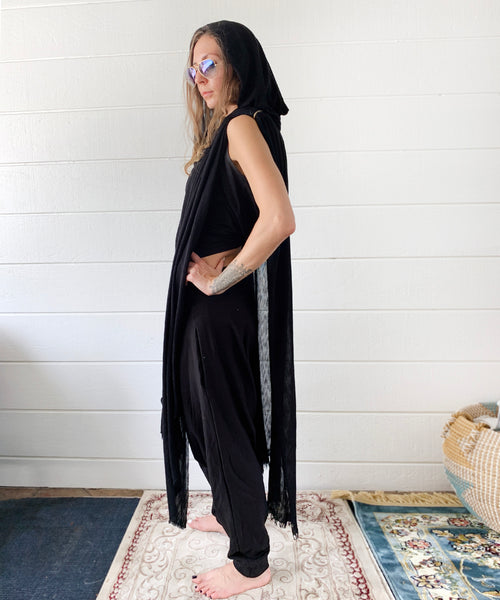 Hooded Mystique | Knit Poncho | Her