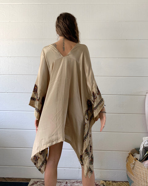 Soft Gold Peacock | Caftan