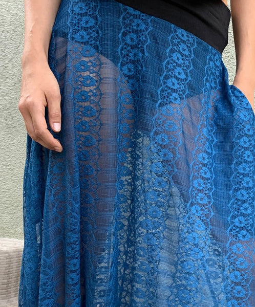 Blue Jewel | Lace Pants