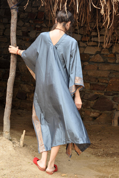 Steel Blue Handloom II | Summer Kaftan