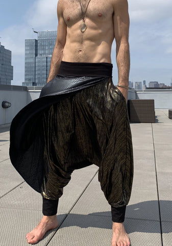 Snake and Gold | Samurai Style Pants | Him