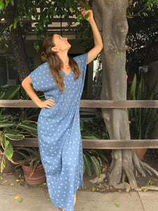 Sky Blue | 100% Cotton Dress