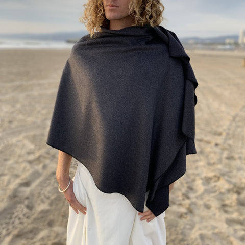 Charcoal Gray Cape | 100% Wool | Him