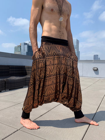 Gold + Tribal | Samurai Pants | Him