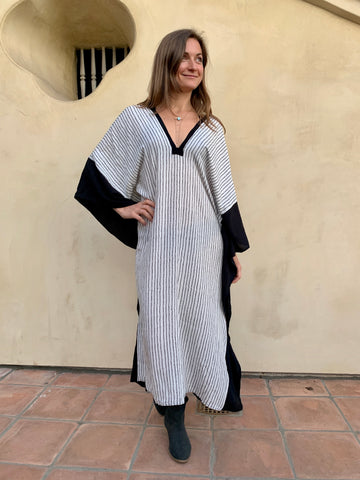 Ink on White | Caftan Dress