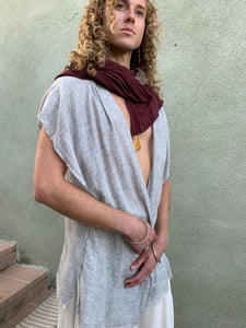 Purity | Soft Grey Vest | Him