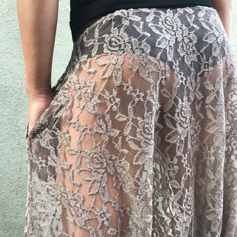 Antique Textured Lace Pants