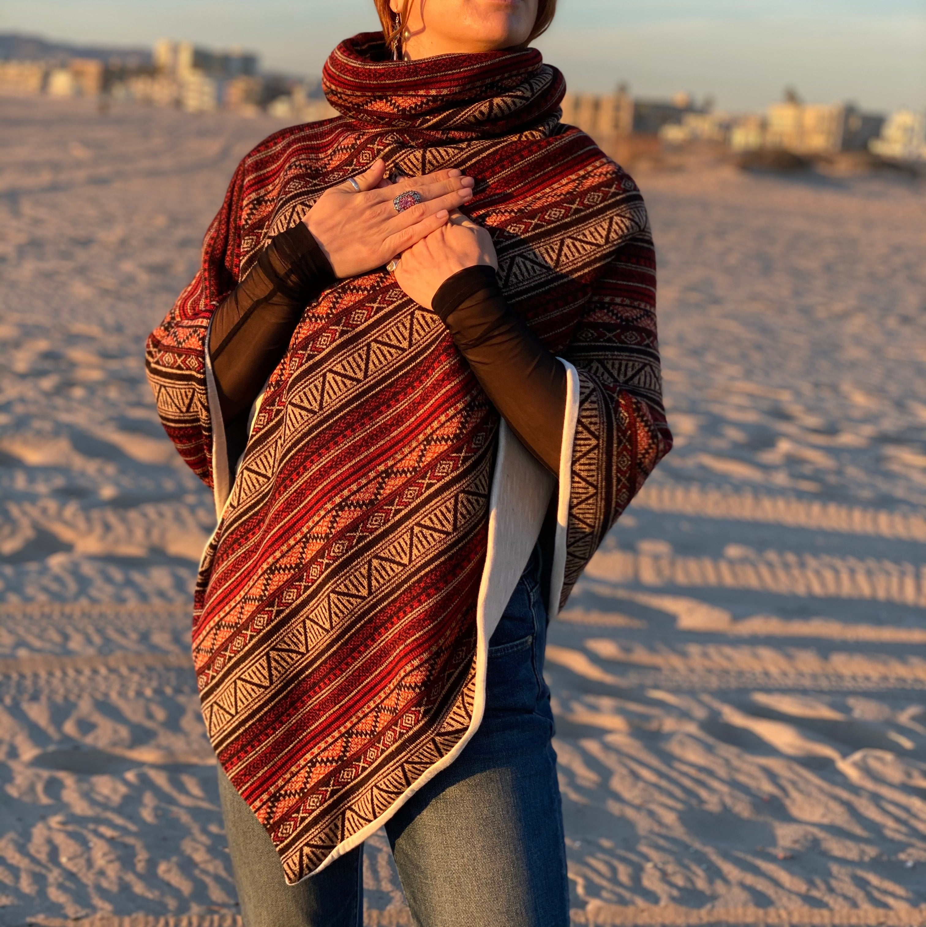 Red Totem | Winter Poncho