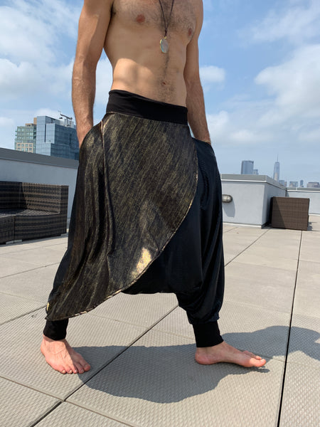 Gold on Black | Samurai Style Pants | Him