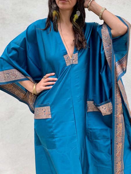 Royal Blue Handloom | Dress