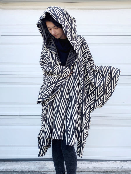 Urban Diamonds | Hooded Cape | Her