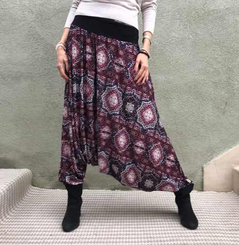 Burgundy Mirrors | Harem Pants