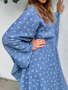 Sky Blue | 100% Cotton Caftan