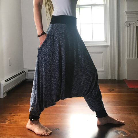 Blue Knits | Harem Pants