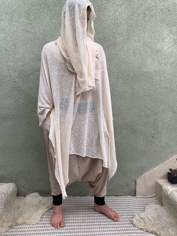Hooded Sage  | Knit Poncho | Him