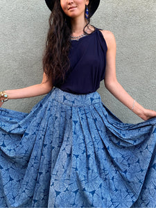 Indigo Tree Rings | Skirt