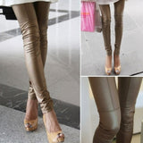 Bronzed Faux Patchwork Leggings