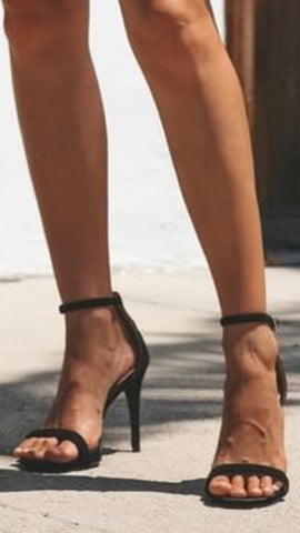 Out On The Town Heel- Black