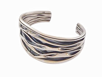 The River Silver Bangle Bracelet / #BR5