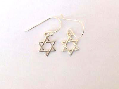 Star of David Earrings / #ERM