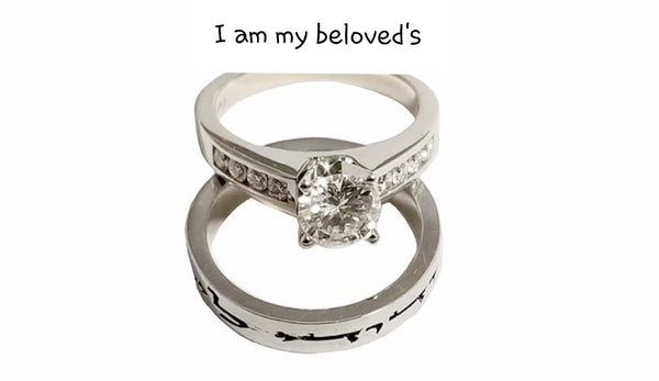 I Am My Beloved's - Engagement Ring and Wedding Band / ANI520