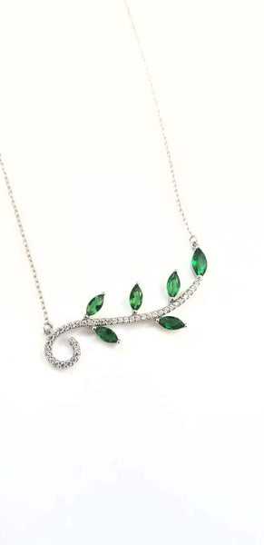 Olive Leaf Necklace / OLP 130