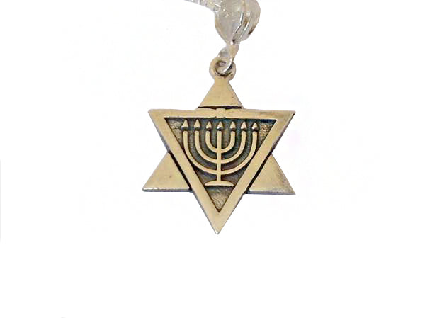 Star of David with a Menorah (small) / #ME1