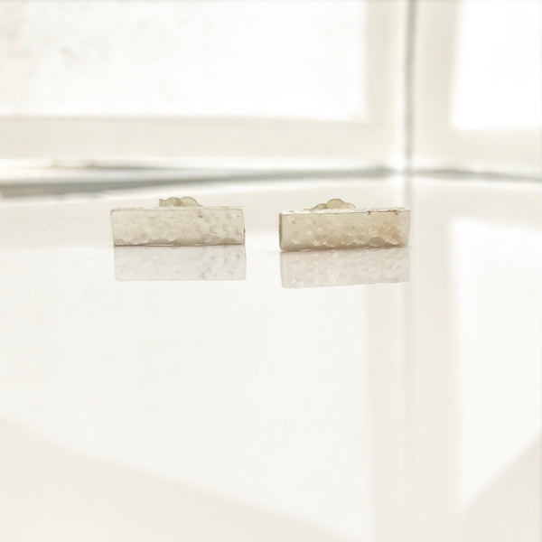 Hammered Plaque Studs - /#PHE2