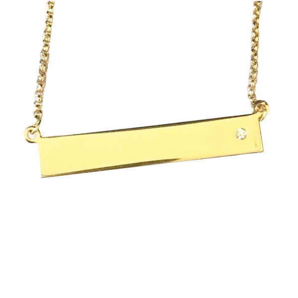 Yellow Gold Plaque Pendant - #PPY7
