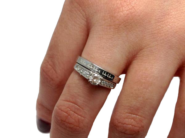 Platinum Engagement or Wedding Ring- #PWE28