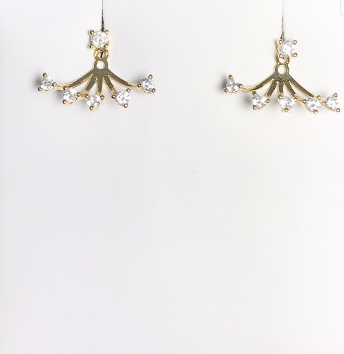 Sterling Solver Ear Jackets and Ear Climbers - Earrings