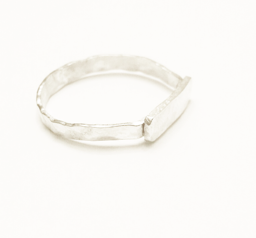 Plaque hammered Ring . -/#PHR2