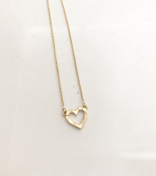 Hammered Heart - Gold -#OHHP1