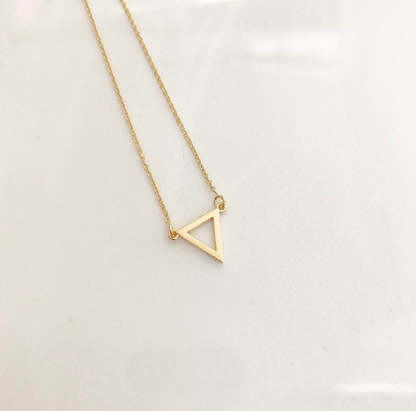 Triangle Pendant - Gold  #TRG1