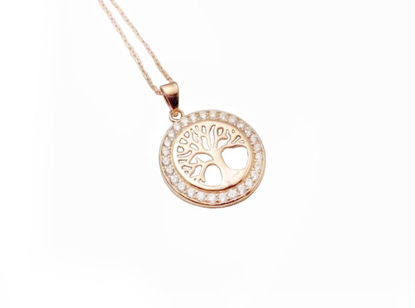 Tree Of Life Rose Gold Plated Necklace - #TLR7